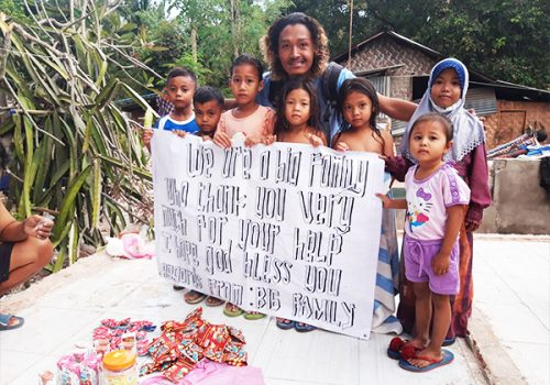 Talentum EQ sent money to support Lombok when Earthquake